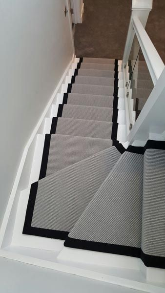 It May Be Small And Narrow But That Doesn T Mean Your Stairway Can T Get The Same Decorating Treatment A Carpet Staircase Staircase Design Stair Runner Carpet