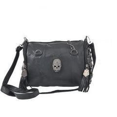 Skull Rivet Chain PU Leather Shoulder Bag