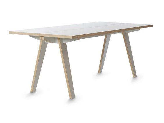 Rectangular birch table STECK by Tojo Möbel design Eigenwert ...