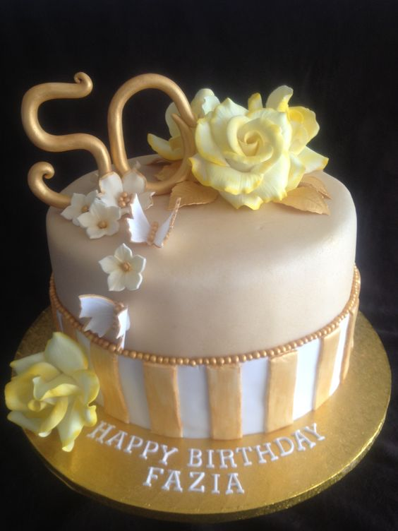 Images of 50th birthday cake ideas for women party for 50th birthday cake decoration