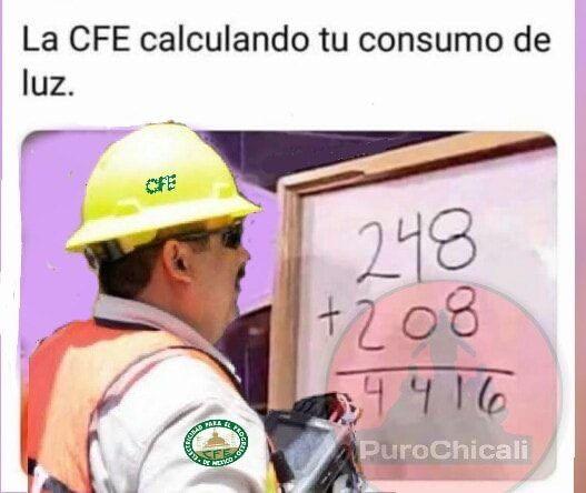 La CFE calculando tu consumed luz   Meme divertido, Memes divertidos, Memes  graciosos