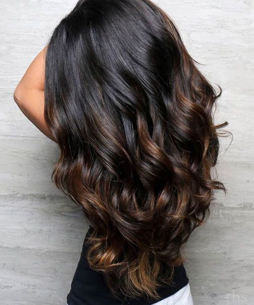 Top Balayage For Dark Hair Black And Dark Brown Hair Balayage Color 2021 Guide Black Hair Balayage Long Hair Styles Dark Brown Hair Balayage