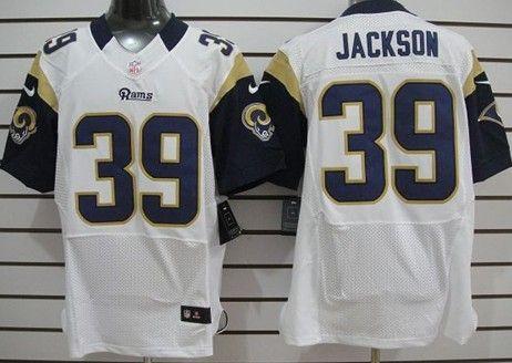 Nike St. Louis Rams #39 Steven Jackson White Elite Jersey | NFL St ...