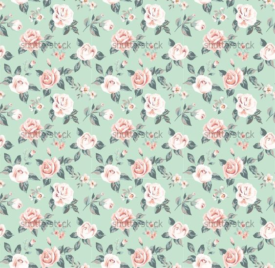 Classic wall...Vintage Floral Background Pattern Tumblr