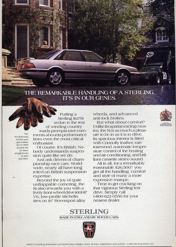 1987 Sterling 827 Si