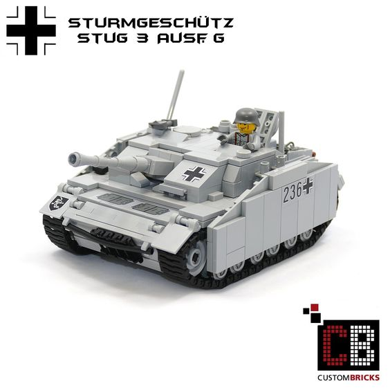 LEGO Custom WW2 Panzer Tank StuG 3 Ausf G CB1