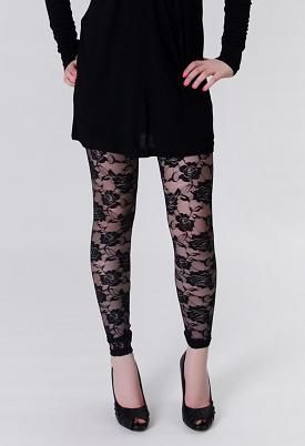 Guido and Mary - Andrea Lace Flowers Leggings $3.95 - Enviius