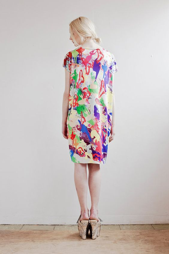 Dancing Dress in Silk Jersey by SLCSLC on Etsy, £180.00