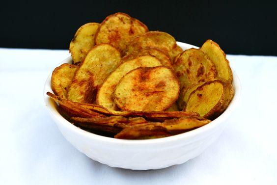 Cheesy Baked Potato Chips (Gluten Free)