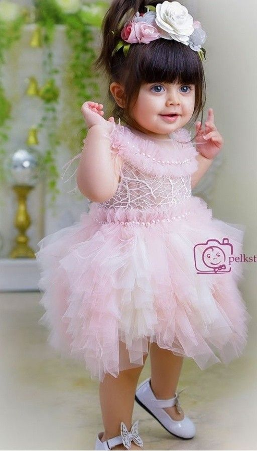 Cute And Adorable Babies With Cute Smile Baby Girl Pink Dress Girls Pink Dress Cute Baby Girl Images