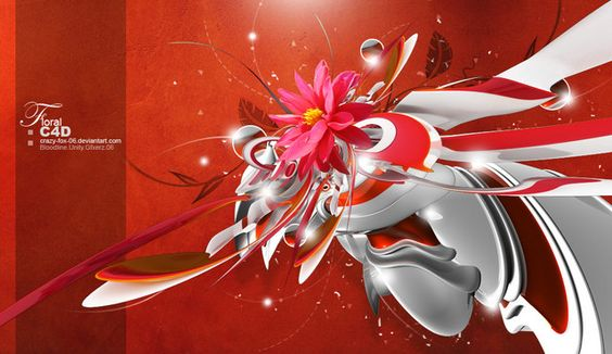 Floral C4D v2  by crazy-fox-06    http://shadowness.com/crazy-fox-06
