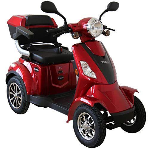 Rolektro E Quad 25 Rot Elektromobil Elektroroller 4 Rad 1000w 25 Km H Rw 50km Koffer Ruckwartsgang Usb Eu Zulassung Rolektro E Quad 2 E Quad Elektroroller Quad
