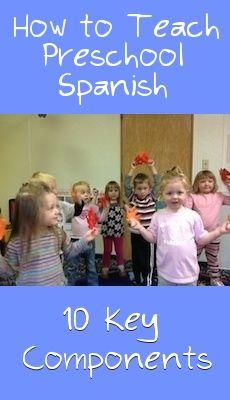 http://www.spanishplayground.net/10-key-components-preschool-spanish-lesson/ How to teach Spanish to preschoolers