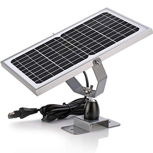Suner Power 12v Waterproof Solar Battery Trickle Charger Maintainer 10 Watts Solar Panel Built In Intel Solar Charger Solar Battery Charger Rv Solar Panels
