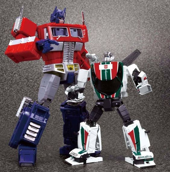 Optimus Prime MP-10 and Wheeljack MP-20