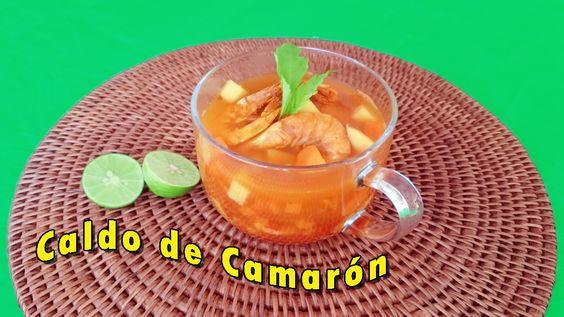 Rica receta para preparar Caldo de Camarón. https://youtu.be/oDaGIeXGSCM