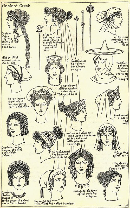 Ancient Greek hairstyles for women: