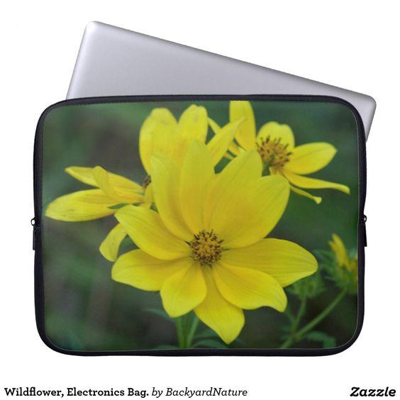 Wildflower, Electronics Bag. Laptop Sleeves