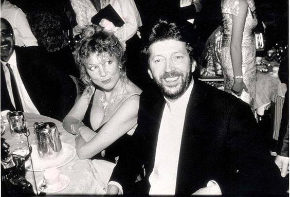 Model Pattie Boyd with Clapton, who he sang about in his hit single Layla