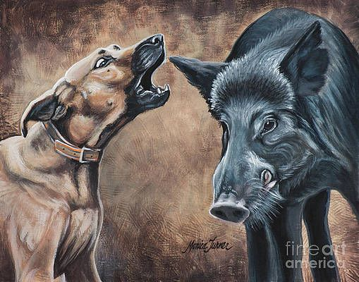 Baydog By Monica Turner In 2021 Pig Hunting Dogs Hog Dog Hunting Art