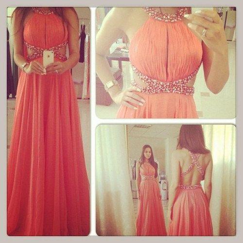 Sexy Prom Dress Long Prom Dress Beaded Prom Dress por XOXOdress, $129.00