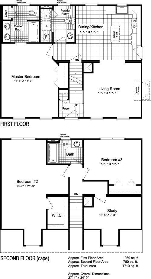 cape cod floorplans | Modular Home Plans - Ranch, Cape Cod, Two ...