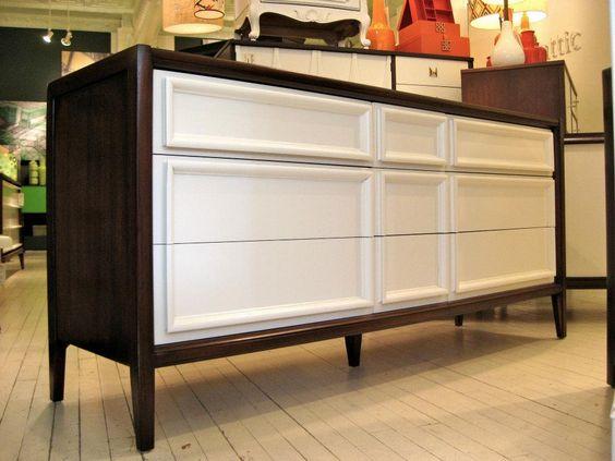 Refinished vintage mid century 9 drawer dresser. $1395
