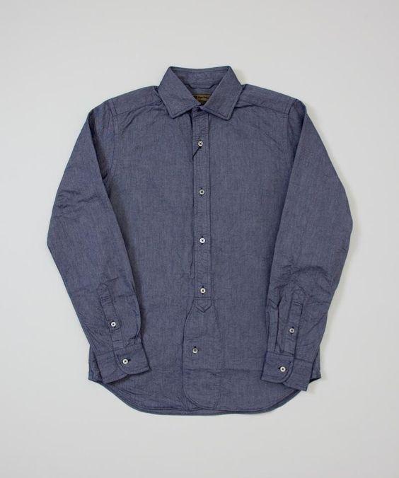 Nigel Cabourn BD Shirt Oxford- Navy