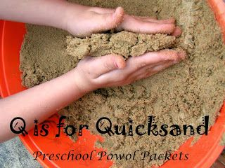 Q is for Quicksand Science Sensory Play #preschoolactivities #letters