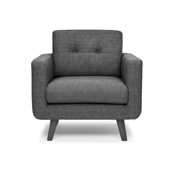 Urbia Mod Accent Chair ($803) ❤ liked on Polyvore featuring home, furniture, chairs, accent chairs, modern furniture, modern occasional chairs, gray furniture, mod furniture and gray accent chairs