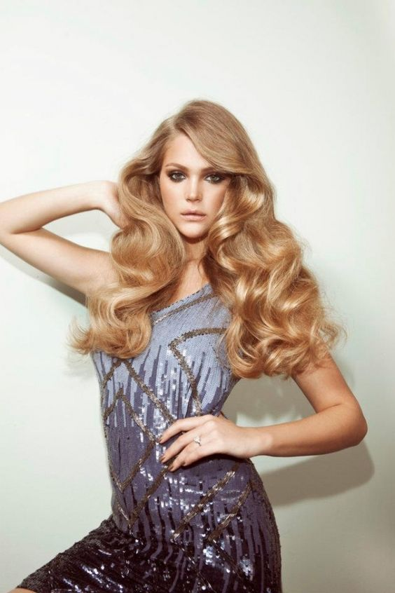 Long Blonde Hair, Curly Hair - Glamorous Hair
