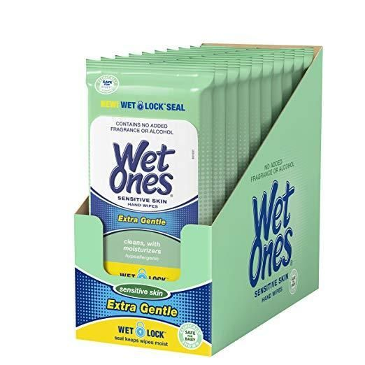 Wet Ones Hand Wipes For Sensitive Skin 20 Pack 9 90 Hand
