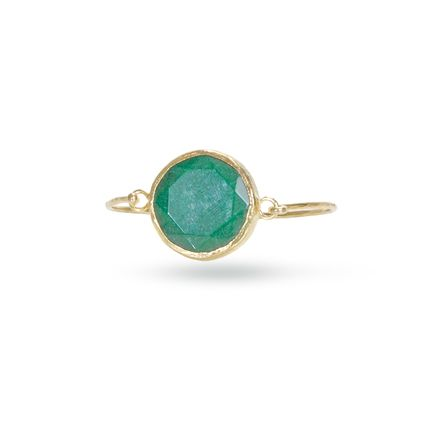 Like the beautiful goddess of Brazilian mythology, the Yara bracelet will no doubt enhance your wrist. The large green jade center stone is bezel set in gold vermeil on a slim vermeil bangle.