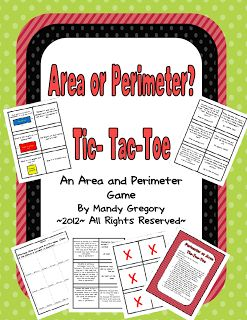 Mandy's Tips for Teachers: Area or Perimeter? Tic-Tac-Toe