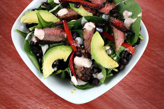 blackened steak salad: Avocado Salads, Salad Recipes, Ip Recipes, Recipe Girl, Summer Salad, Steak Salad
