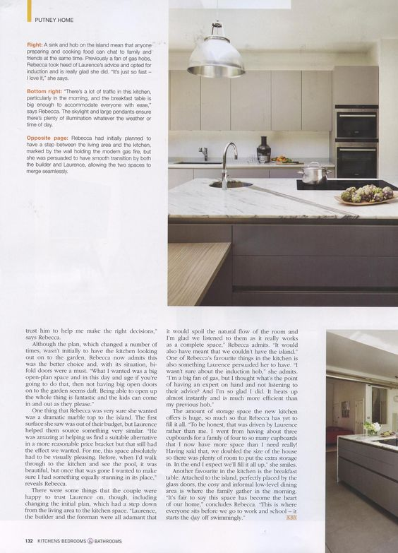 A great article featuring a beautiful Laurence Pidgeon kitchen. http://www.laurencepidgeon.com/ Kitchens Bedrooms Bathrooms August 2016