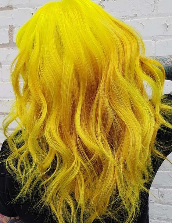 33 Multi Dimensional Yellow Hair Color Trends In 2018 Here We Have Compiled Sensation Ideas Of Yellow Ha Yellow Hair Color Hair Color Unique Trendy Hair Color
