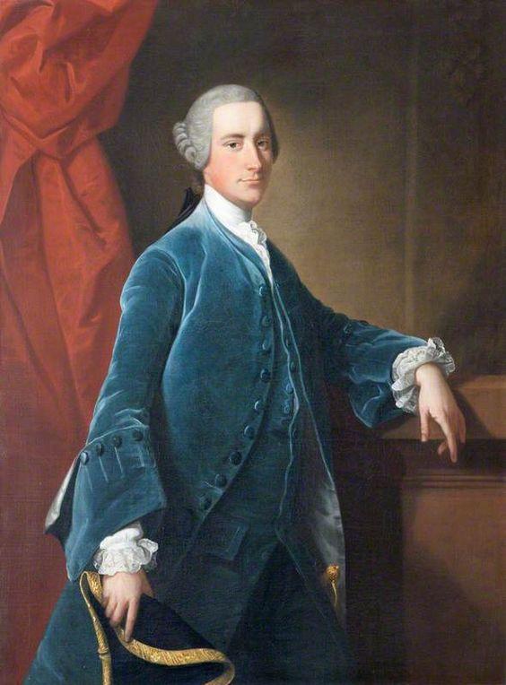 """Sir Thomas Dyke Acland, 7th Bt, MP"", Thomas Hudson, ca. 1755; NT 922292:"