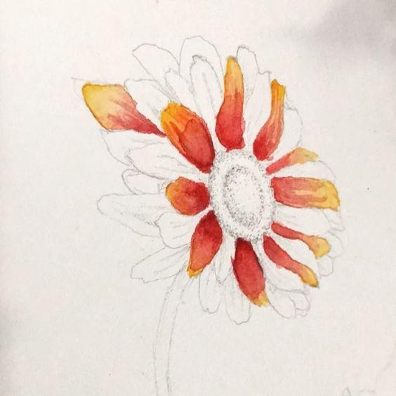 Aquarell Blumen Flower Painting Painting Watercolor Art