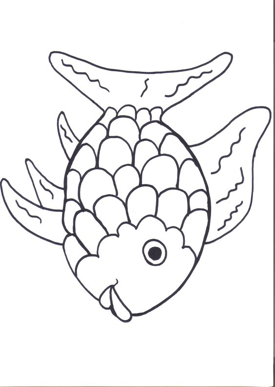 Rainbow Fish Printables August Preschool Themes | Child Care Information | Kids Coloring Pages | Coloring Books for Kids | Printable Colorin...
