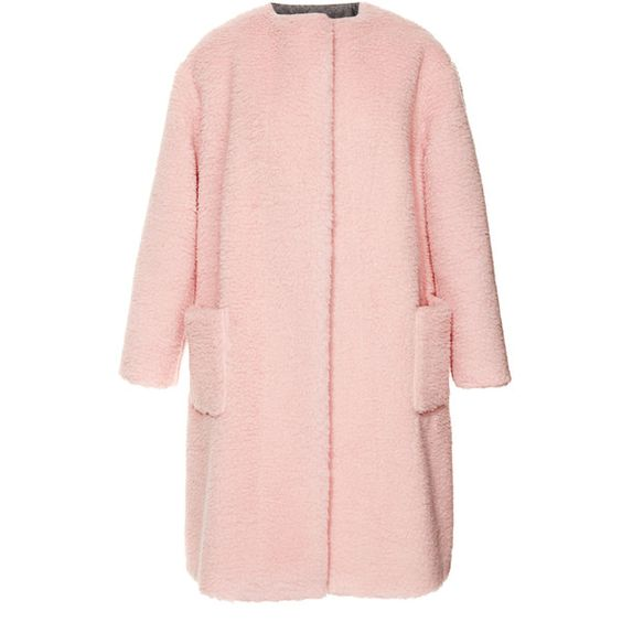 Rochas Peluche Powder Pink Coat found on Polyvore | Top Fashion ...