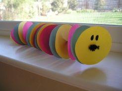Kids craft, caterpillar