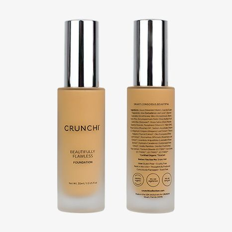 Chrunchi Beautifully Flawless Foundation $48 All natural, non GMO, GF, Vegan