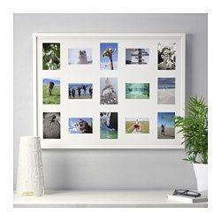 IKEA - RIBBA, Rahmen für 15 Bilder, Passepartouts lassen Motive wirken und erleichtern das Einrahmen.PH-neutrales Passepartout; färbt nicht auf das Motiv ab.Kann längs oder quer aufgehängt oder aufgestellt werden.Platz für ein Bild von 60x80 cm oder 9 Bilder von 10x15 cm und 6 Bilder von 9x13 cm.