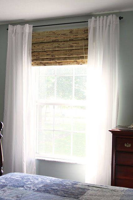 white sheer ikea vivan curtains with bamboo panel shade textiles
