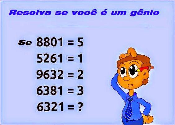 Desafio matemático Obs: a solução é contar o número de círculos fechados em cada sequência numérica.