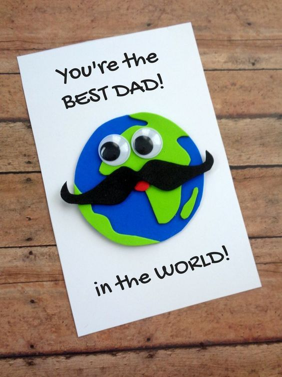 DIY fathers day card with earth