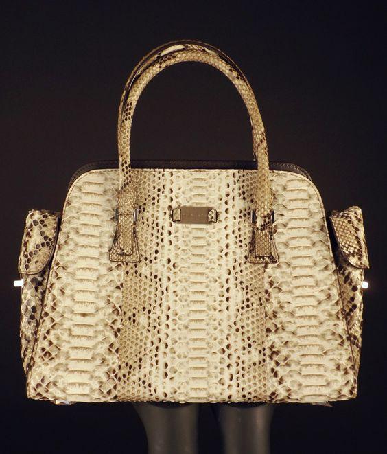 MICHAEL KORS-Python Embossed Desert Gia Bag