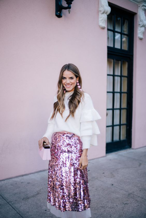 OOTD: Gal Meets Glam Takes a Shine to Pink Sequins #RueNow