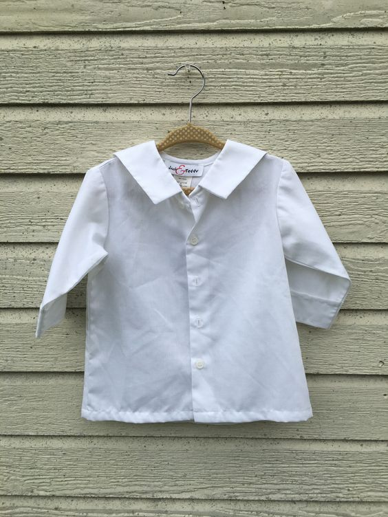 Jack & Teddy White Collared Buttoned Shirt 18m